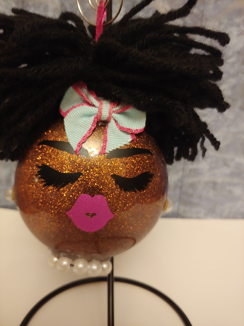 Dolled Up Pearl Girl Ornament