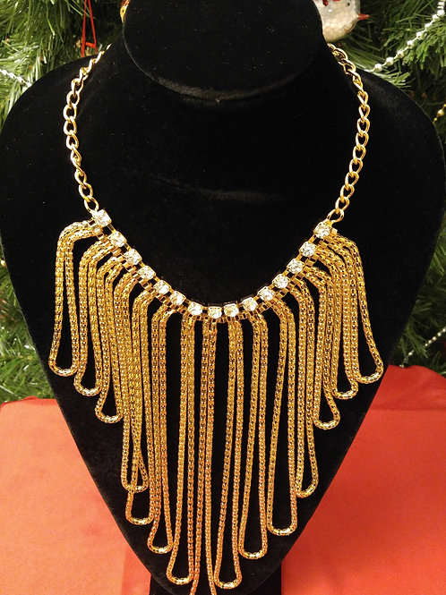 Gold Rope Statement Necklace
