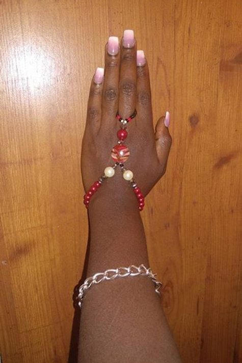 Red Hott Ring Bracelet
