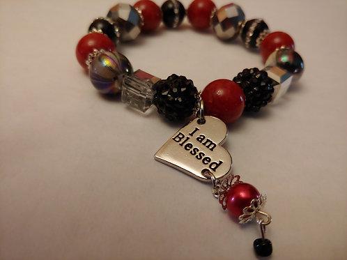 I Am Blessed Charm Bracelet