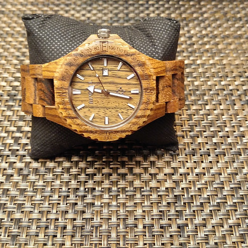 Mens Natural Sandalwood Watch