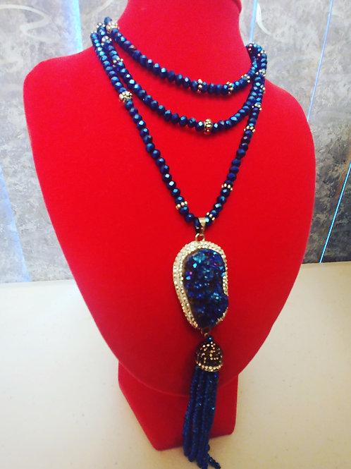 Blue Beauty Statement Necklace
