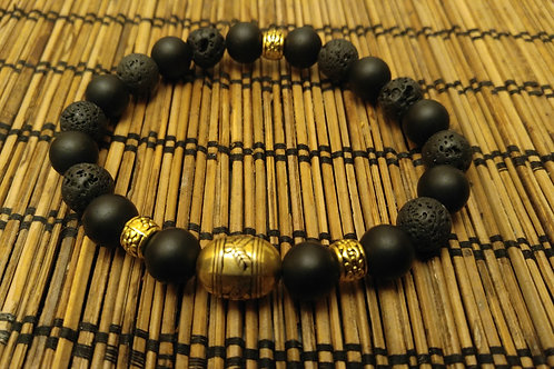 Men's Black Gold Bracelet