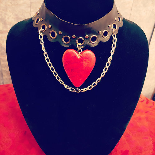 Heart & Chain 2 Choker Necklace