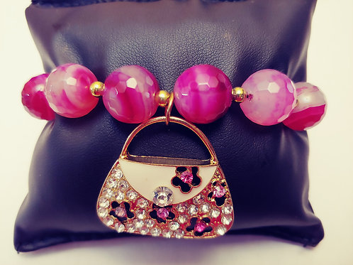 """Secure The Bag"" Charm Bracelet"
