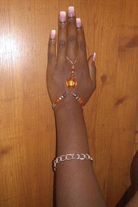 Orange Burst  Ring Bracelet