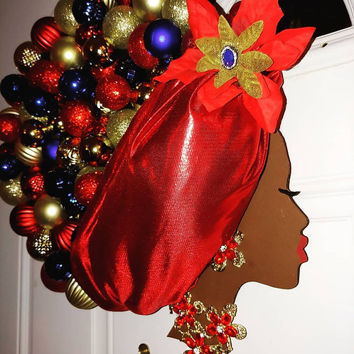 Large Dolled Up Afro Wreath