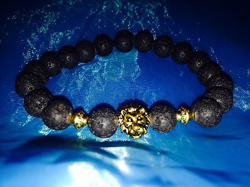 Men's  Lion & Lava Stone