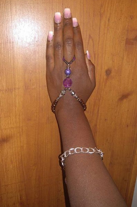 Purple Royalty Ring Bracelet