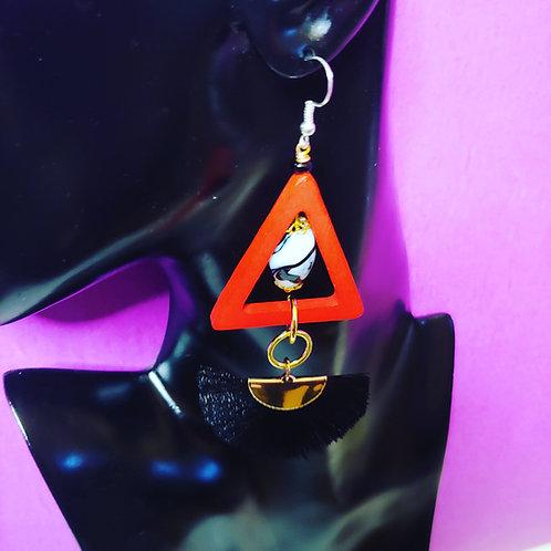 """""""Love Triangle"""" Earrings"""