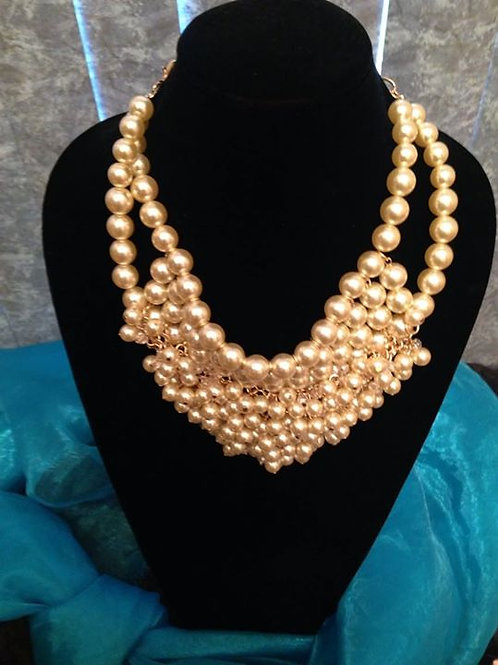 Pearls & Crystal Statement Necklace