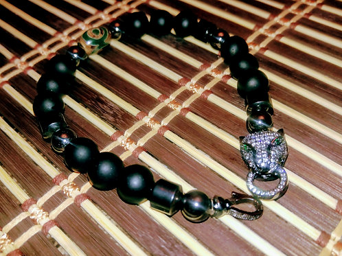 Men's Cubic Zirconia Panther Head Bracelet