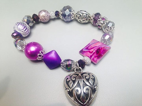 Caged Heart Women's Bracelet