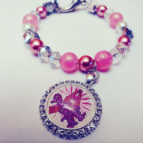 """Bubble Gum """"Pretty Girls Pray"""" Bracelet"""