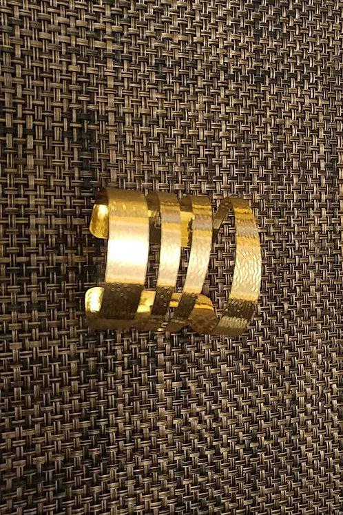 Gold Spiral Cuff Bracelet