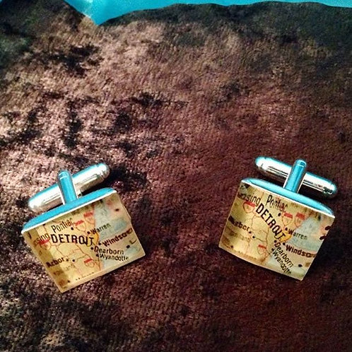 "Rock Your City ""Detroit"" Cufflinks"