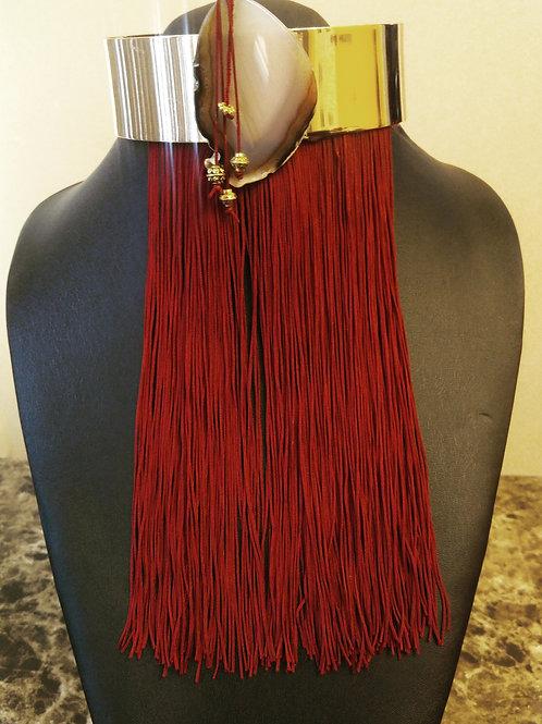 Agate & Tassels Choker Necklace