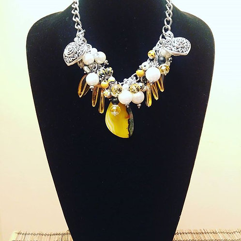 A Little Sunshine Statement Necklace Set