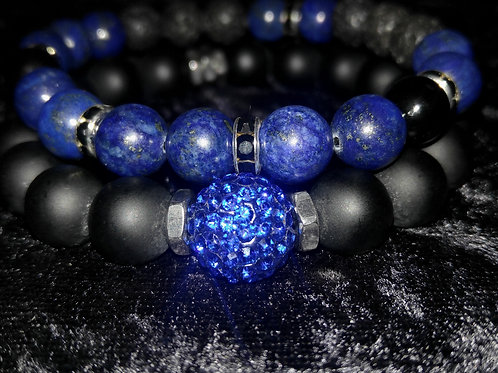 Men's Midnight Blues Stacked Bracelets