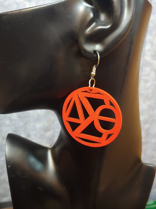 Delta Sigma Theta Wood Earrings
