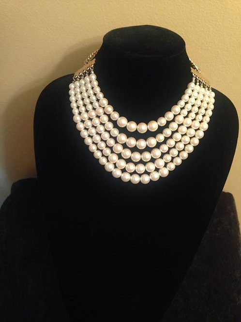 5 layered strand Pearl Necklace