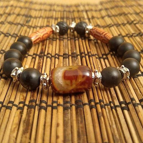 Men's Onyx Tribal Bracelet