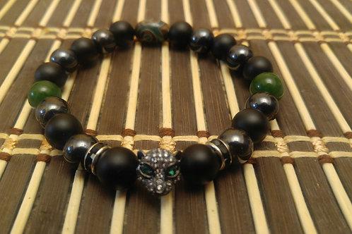 Black Panther Mens Bracelet