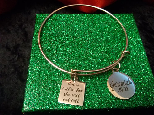God is Within Her Charm Bracelet