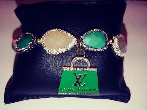 """""""Bling Money Bag"""" Charm Bracelet"""