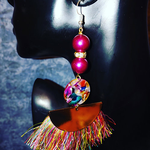 """Sprinkle of Joy"" Tassel Earrings"