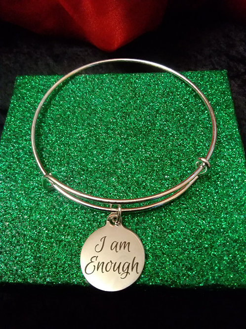 I Am Enough Charm Bracelet