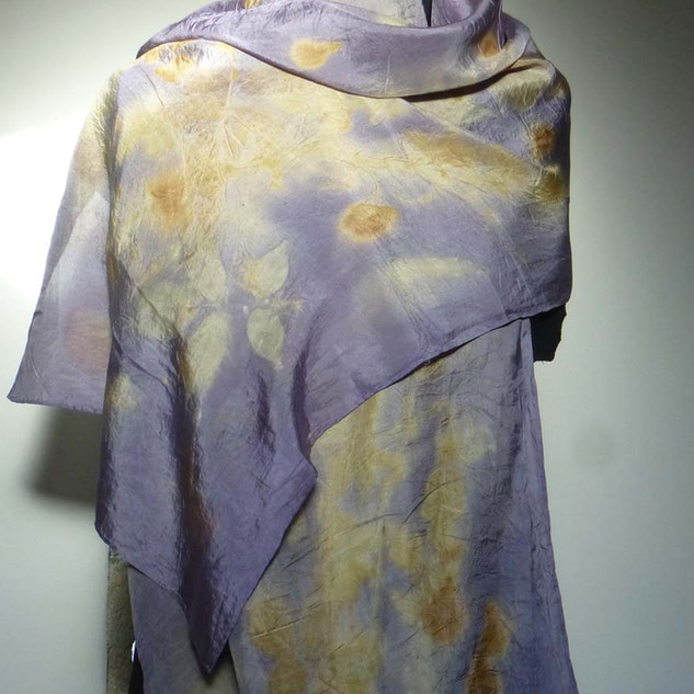 Echarpe soie violette