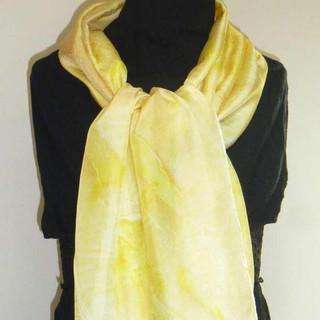 Echarpe jaune citron
