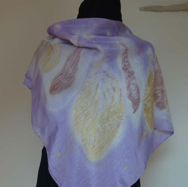 Carré soie lilas