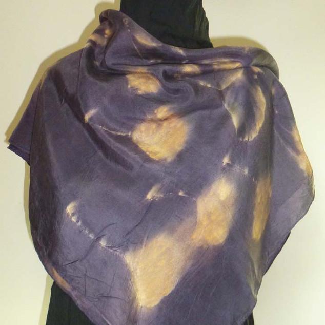 Carré soie violet