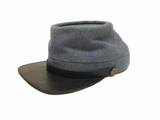 Size 7 1/8 C.S. Royal Blue On Brown Kepi