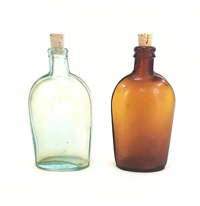 Glass Whiskey Flask