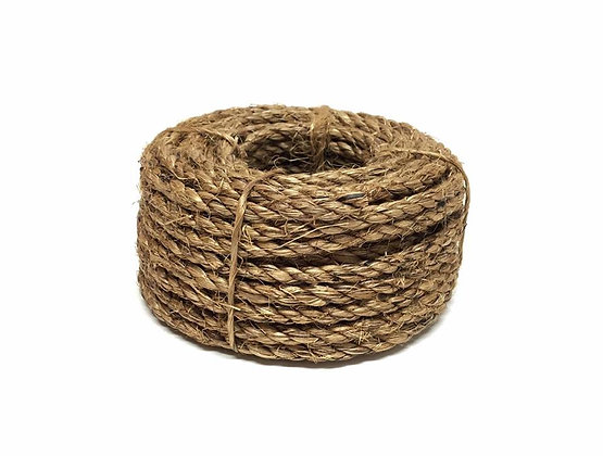 50ft Roll Of 1/4in Manila Rope