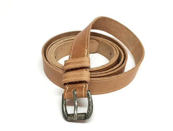 Leather Canteen Strap W/ Original Tinned Buckle