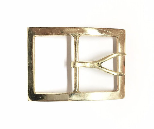 Cast Brass Fork Tongue Buckle Large