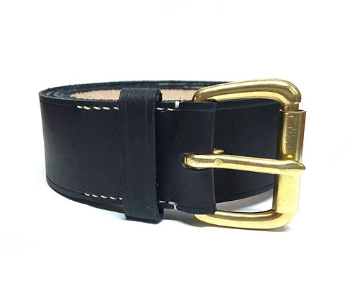 "C.S. / Civilian 1.5"" Solid Brass Roller Buckle Belt"