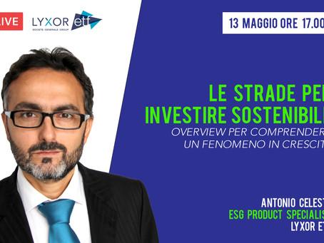 Webinar 13/05 | Le strade per investire sostenibile con Lyxor ETF