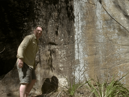 A rock carving in Berowra - video