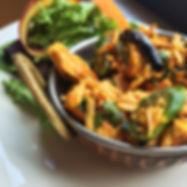 ginger chicken spicy salad slc
