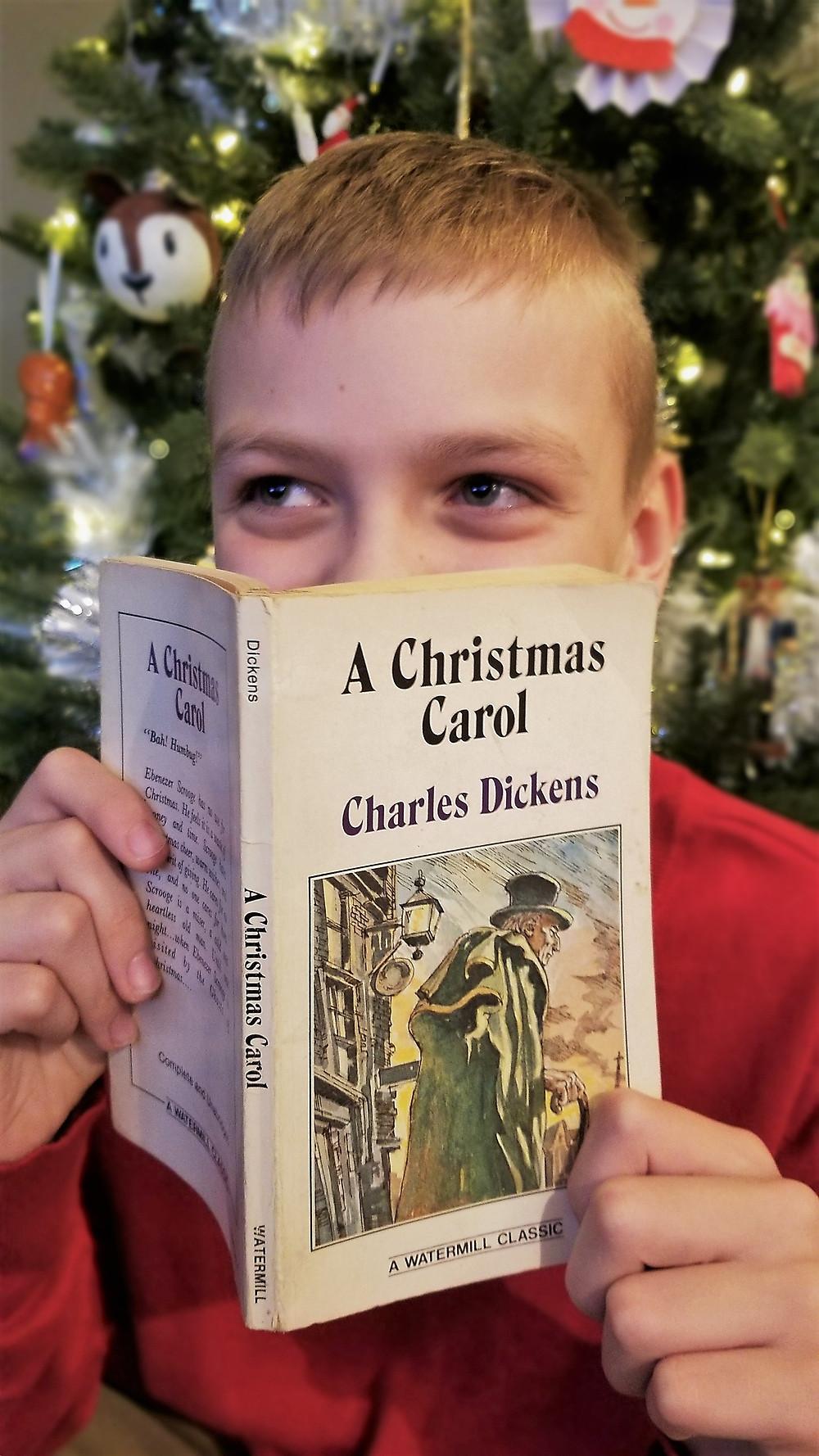 A Christmas Carol summary, Christmas Carol review, kid christmas books, middle school classic literature