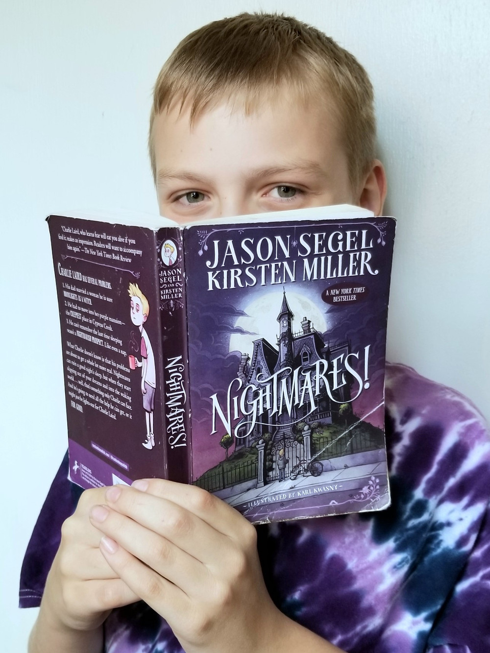 Nightmares! book review, Nightmares! by Jason Segel cover art, kids book summary and review, halloween reading list