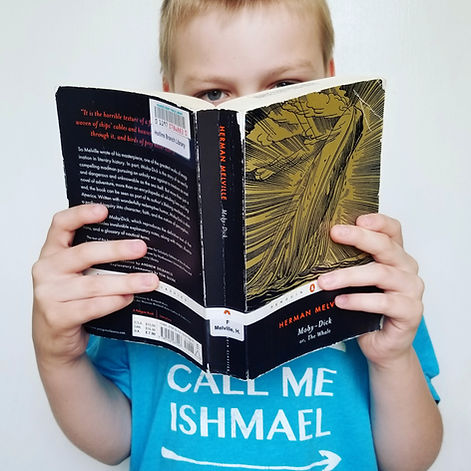 Hayden the Reader book blogger, reading moby dick, the white whale book cover