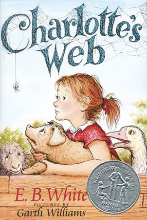 charlottes web by eb white, childrens book characters, charlotte and wilbur, charlotte's web book cover