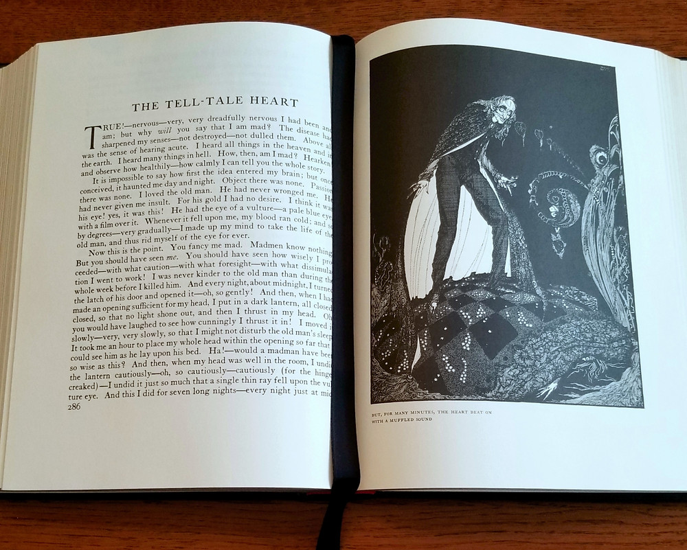 harry clarke tell tale heart picture, classic campfire story, halloween story for kids, elementary school blogger