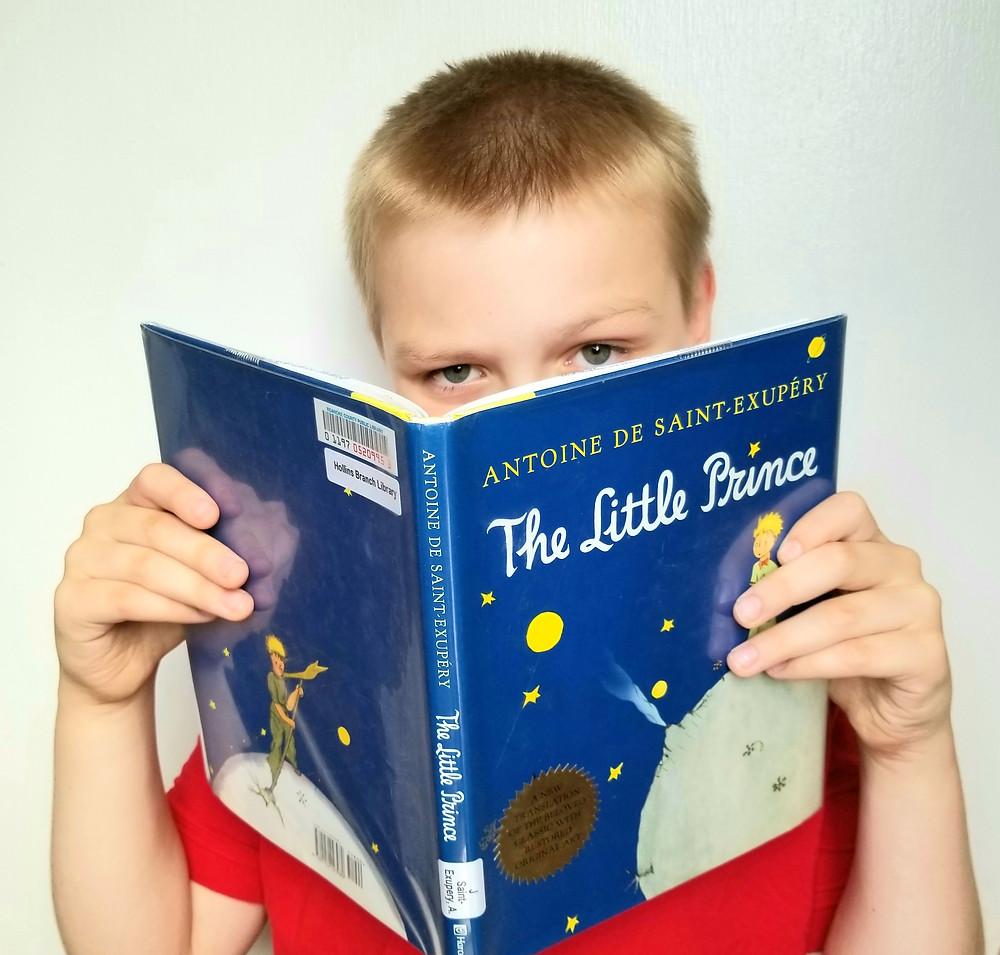 the little prince book, antoine de saint-exupéry, elementary school reading review, homeschool kids reading blog